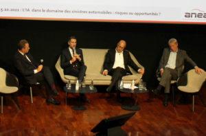 De gauche à droite, Xavier Horent (CNPA), François Mondello (Anea/FFEA), Laurent Hecquet (Map) et Stéphane Penet (FFA) échangent en s'appuyant sur les analyses des spécialistes de l'IA. ©J2R/NG